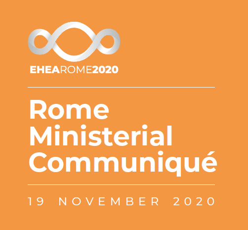 Cover of the Rome Ministerial Communiqué