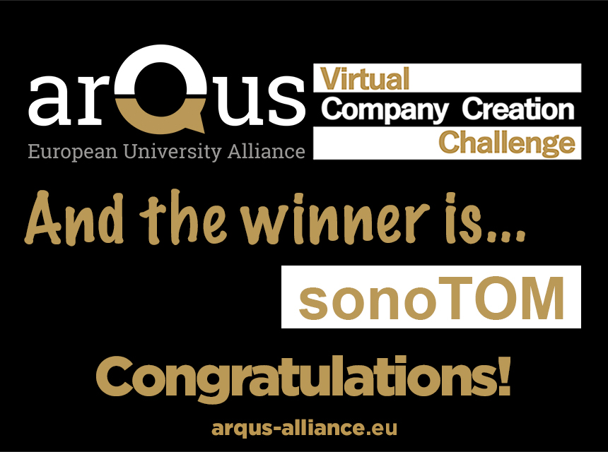Arqus Virtual Company Creation Challenge 2020: and the winner is... sonoTOM
