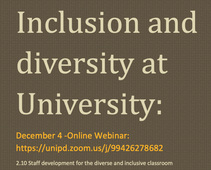 Inclusion and diversity workshop